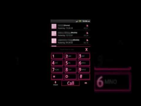 Video of GO Contacts EX Theme Pink Neon