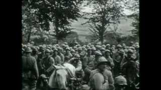 The Western Front in 1917 prior to the arrival of U.S. troops. German withdrawal to the Hindenburg Line, successful...