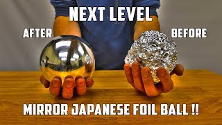 Download lagu Casting Mirror Polished Japanese Foil Ball From Molten Aluminium Mp3