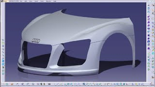 Catia V5 Tutorials Wireframe and Surface Design Sweep With Three guide curves