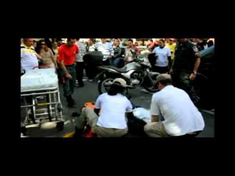 Acidente fere motociclista na Vila Santa Cecília