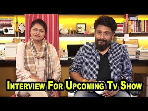 Interview With Pallavi Joshi & Vivek Agnihotri  For Their Upcoming Tv Show  BHARAT KI BAAT