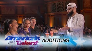Eric Jones: Magician Shocks Mel B with Coin Trick - America's Got Talent 2017