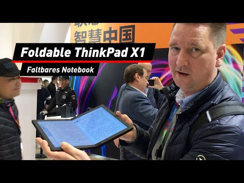 Foldable ThinkPad X1: Faltbares Notebook von Lenovo