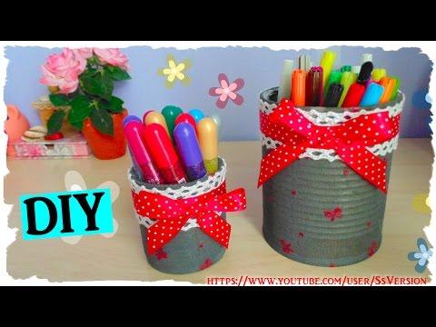 riciclo creativo - barattolo porta oggetti