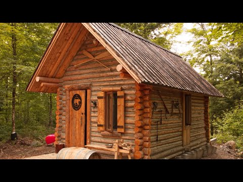 A Guy Just Built a Log Cabin Alone With Just Hand-Tools