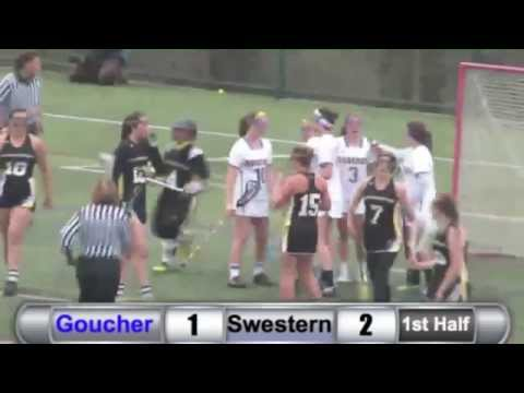 WLAX: Goucher vs. Southwestern Highlights - 4/10/15