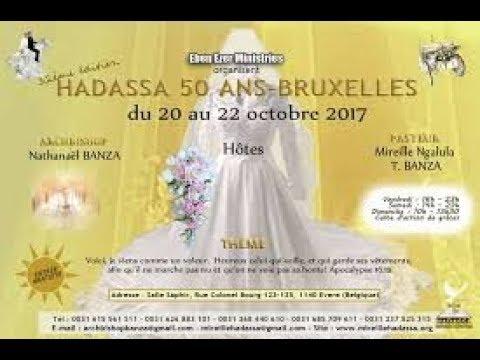 HADASSA 50 ANS  BRUXELLES 2017 - Pasteur Mireille Banza et L'Arch Bishop Nathanaël Banza