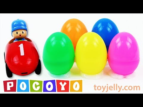 Pocoyo Cars Chocolate Kinder Surprise Eggs Baby Toys Learn Colors Nursery Rhymes for Kids Children