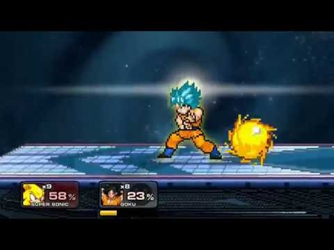 super smash flash 2 super sonic vs goku ssj blue