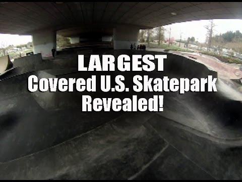 LARGEST COVERED U.S. SKATEPARK REVEALED!