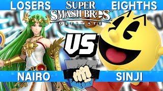 Collision 2019 Losers Eighths - Nairo (Palutena) vs Sinji (Pac-Man) - Smash Ultimate