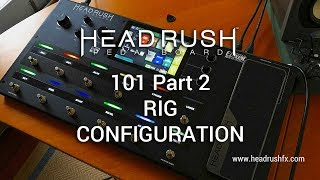 """http://www.headrushfx.comPart 1: Build Your Rig 101 - https://youtu.be/frXxQcfkRMgPart 3: The Looper 101 - https://youtu.be/WokGkj-mRKsThis video gives the viewer a brief lesson and demo on how to configure the HeadRush Pedalboard's footswitches and internal switching. Other general functions of the HeadRush Pedalboard can be viewed via the links above. The HeadRush Pedalboard is a serious modelling and multi-effects workhorse based around the Eleven HD Expanded code. It offers one of the most advanced, easiest and intuitive onboard interfaces I've ever seen and is road ready in all aspects including construction and I/O facilities. At the time of writing the HeadRush offers over 30 amp models, 15 cabinet models, 10 microphone models, 6 distortion stomps, 8 rotary sims, 5 types of dynamic/eq effects, 11 modulation effects, 7 types of reverb and delay effects, 5 expression pedal effects and the ability to import third party cabinet Impulse Responses. If you're looking to get into a modelling and multi-effect solution for your gigs, bedroom, studio or just plain fun, you should take a close look at the HeadRush when making your choice. Today's tools: Guitar: 2016 Music Man Albert Lee HH (stock).Cables: Goodwood Audio and ProvidenceMic: Samson Airline77 (me)Camera: Canon 60D (HeadRush) and Nikon D5100 (me)Soundcard: AVID Mbox Pro 3Computer: Apple iMac 27"""" i7 3.4 GHz 16 GB RAMSoftware: Logic Pro X, Waves L3-16 Limiter (to keep levels in check at output), Apple Final Cut Pro X (video editing and Youtube compression).A thousand thank you's to Nick Mitchell, Clint Chin-Quan and all at Electric Factory Australia. Visit: https://www.elfa.com.au/"""