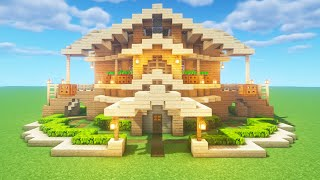 """Minecraft Tutorial: How To Make A Wooden Survival Base """"2020 Tutorial"""""""