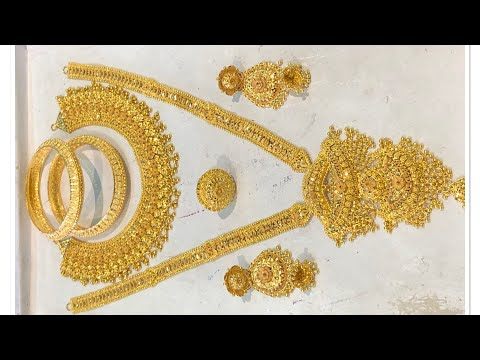 Latest gold bridal sets with live weight
