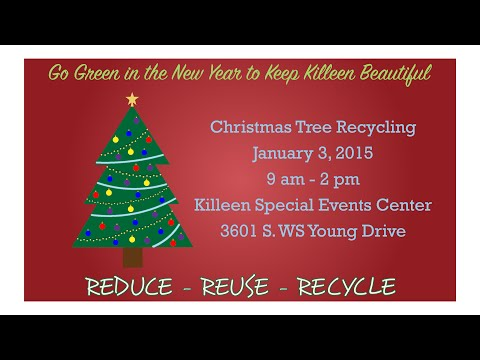 Christmas Tree Recycling Promo