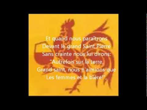 Chant des étudiants wallons (+ paroles)