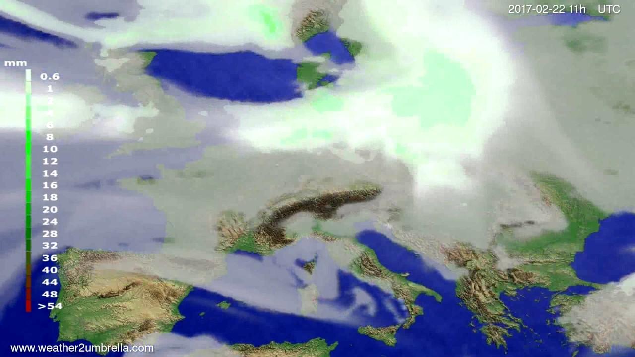 Precipitation forecast Europe 2017-02-19