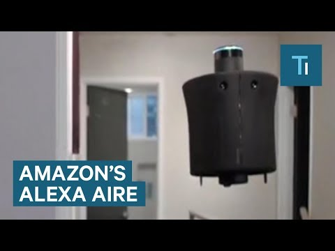You can control this self-flying home assistant using Amazon's Alexa
