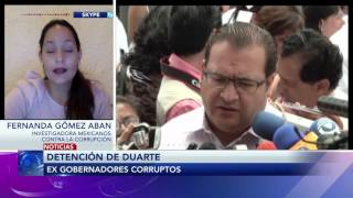 Entrevista a Fernanda Gómez sobre ex gobernadores corruptos