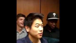 Maze Runner : Scorch Trials Cast In The Elevator! :D ♥ (Instagram video by Ki Hong Lee)