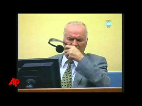 Raw Video: Defiant Mladic Thrown Out of Court