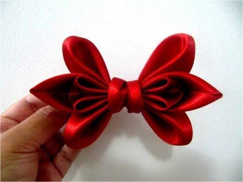 Moños dos pétalos en cintas para el cabello