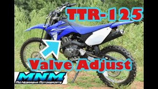 5. 00-04 Yamaha TTR125 ttr125L TTR Engine Head Valve Clearance Check Adjustment Maintenance