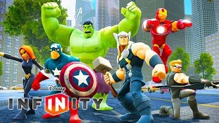 THE AVENGERS Cartoon Games for Kids - Superheroes Videos for Children - Disney Infinity 2.0