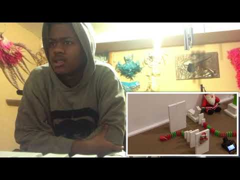Merry Christmas In Dominoes! (christmas Card) Reaction!!