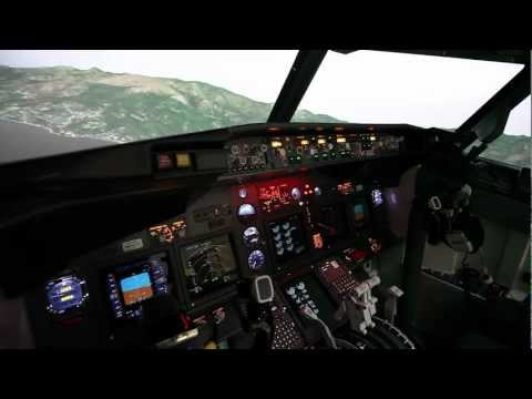 B737NG Projection Simulator Takeoff