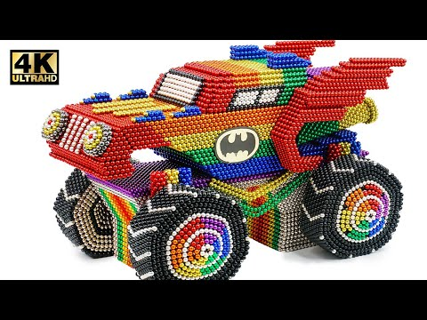 Most Creative - Make Coolest Batmobile Car From Magnetic Balls (Satisfying)   Magnet World Series
