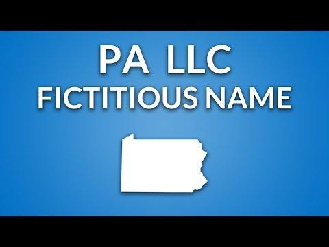Pennsylvania LLC - Fictitious Name/DBA