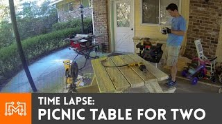 Time-Lapse: Building a picnic table for two