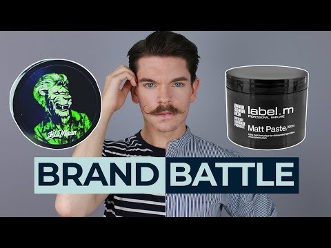 Mens hairstyles - BluMaan Monarch Matte Paste vs. Label M Matt Paste  Brand Battle