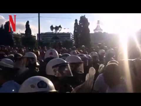 Βίντεο από τις συγκεντρώσεις στο Σύνταγμα