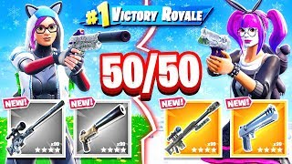 RANDOM Loot 50/50 CHALLENGE *NEW* Game Mode in Fortnite Battle Royale