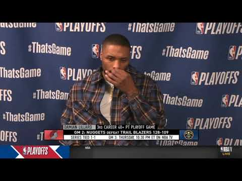 """Damian Lillard """"feels Bad"""" after Blazers lose to Nuggets in playoff: I tried my best!"""