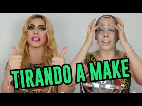 TUTORIAL como tirar maquiagem drag queen pesada