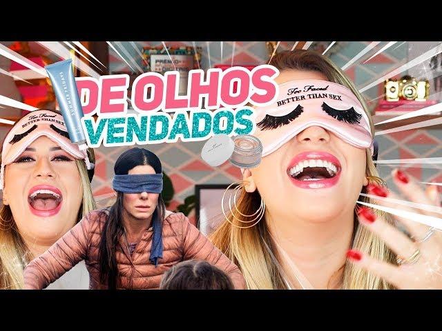 ADIVINHANDO minhas makes SEM VER! - Desafio Bird Box - Niina Secrets