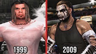 The evolution of Jeff Hardy in WWE Games which feature his entrances, finisher/signature moves from WWF Wrestlemania 2000 to his last WWE game appearance in SVR 2010.Subscribe to Bestintheworld https://goo.gl/bh0dMlFollow me on Twitter https://goo.gl/g2hpKr