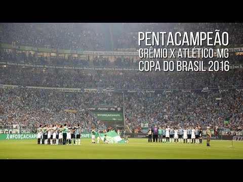 Grêmio 1 x 1 Atlético-MG - Copa do Brasil 2016 Final - MINUTO DE SILÊNCIO - Geral do Grêmio - Grêmio