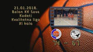 kk sava kk bask 74 67 (kadeti, 21 01 2018 ) košarkaški klub sava