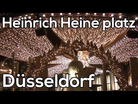 Heinrich Heine platz Dusseldorf Kerstmarkten