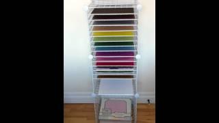 Homemade 12x12 Paper Storage Shelving - YouTube
