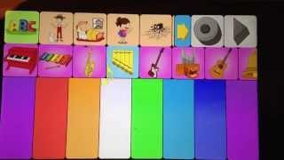 Kids piano app YouTube video