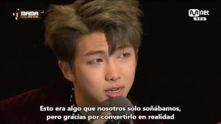 [Sub Esp] BTS Premio ARTIST OF THE YEAR - ARTISTA DEL AÑO MAMA 2016