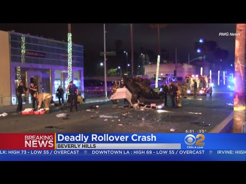 2 Women Killed, 4 Others Injured In Solo Rollover Crash In Beverly Hills