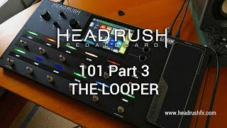 """http://www.headrushfx.comPart 1: Build Your Rig 101 - https://youtu.be/frXxQcfkRMgPart 2: Rig Configuration 101 - https://youtu.be/WmwUy6_ODsAThis video gives the viewer a brief outline of the HeadRush Pedalboard's considerable LOOPER facility. Other general functions of the HeadRush Pedalboard can be viewed via the links above. The HeadRush Pedalboard is a serious modelling and multi-effects workhorse based around the Eleven HD Expanded code. It offers one of the most advanced, easiest and intuitive onboard interfaces I've ever seen and is road ready in all aspects including construction and I/O facilities. At the time of writing the HeadRush offers over 30 amp models, 15 cabinet models, 10 microphone models, 6 distortion stomps, 8 rotary sims, 5 types of dynamic/eq effects, 11 modulation effects, 7 types of reverb and delay effects, 5 expression pedal effects and the ability to import third party cabinet Impulse Responses. If you're looking to get into a modelling and multi-effect solution for your gigs, bedroom, studio or just plain fun, you should take a close look at the HeadRush when making your choice. Today's tools: Guitar: 2016 Music Man Albert Lee HH (stock).Cables: Goodwood Audio and ProvidenceMic: Samson Airline77 (me)Camera: Canon 60D (HeadRush) and Nikon D5100 (me)Soundcard: AVID Mbox Pro 3Computer: Apple iMac 27"""" i7 3.4 GHz 16 GB RAMSoftware: Logic Pro X, Waves L3-16 Limiter (to keep levels in check at output), Apple Final Cut Pro X (video editing and Youtube compression).A thousand thank you's to Nick Mitchell, Clint Chin-Quan and all at Electric Factory Australia. Visit: https://www.elfa.com.au/"""