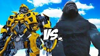 Video KING KONG VS BUMBLEBEE (Transformers) MP3, 3GP, MP4, WEBM, AVI, FLV Juli 2018